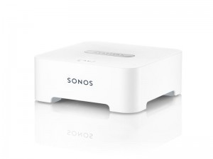 Connect the BRIDGE to your router and all Sonos players can go anywhere and work wirelessly. It's the ideal solution for setting up Sonos when your router isn't in a room where you want music.  Want to stream music to a remote location? Just place a BRIDGE between two Sonos players to extend your wireless signal to reach the far corners of your home.  The BRIDGE has a two-port Ethernet switch to bring additional standard Internet connectivity.